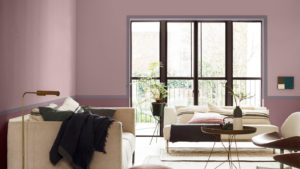 Sanfte Farben im Wohnzimmer